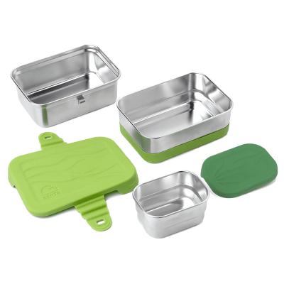 Ecolunchbox RVS 3-delige lunchtrommel Splash Box 3-in-1 lekvrij duurzaam milieuvriendelijk stevig kopen