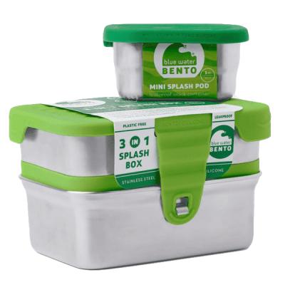 Ecolunchbox RVS lunchtrommel Splash Box 3-in-1 lekvrij duurzaam milieuvriendelijk stevig kopen