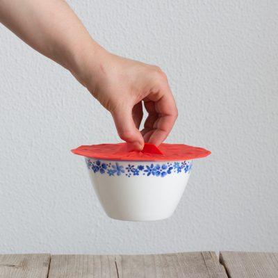 GIR Deksels rond rood siliconen eten bewaren afsluiten bakje duurzaam bpa-vrij