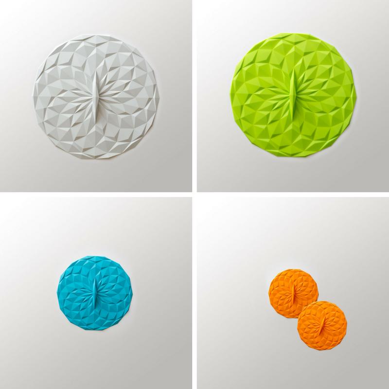 GIR Deksels rond siliconen eten bewaren wit groen blauw oranje duurzaam bpa-vrij