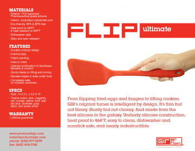 GIR Ultimate Flip kopen keuken spatel siliconen koken keukengerei vaatwasser duurzaam veilig