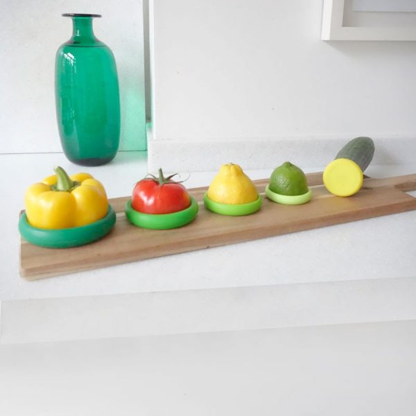 Food Huggers luchtdicht bewaren groente fruit koelkast langer houdbaar groen groot klein