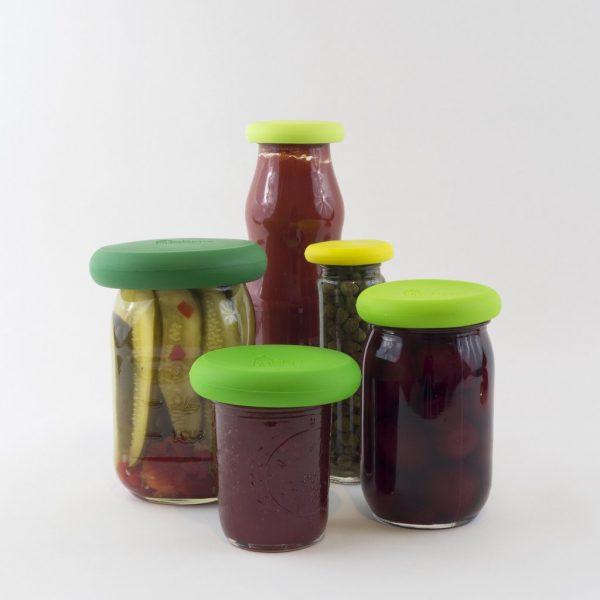Food Huggers afsluiten pot zonder deksel folie augurken saus bewaren koelkast luchtdicht