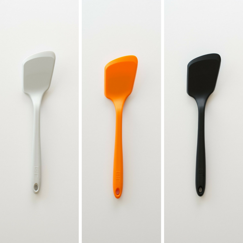 GIR Mini Flip kopen kleine keuken spatel wit oranje zwart siliconen koken keukengerei vaatwasser duurzaam veilig