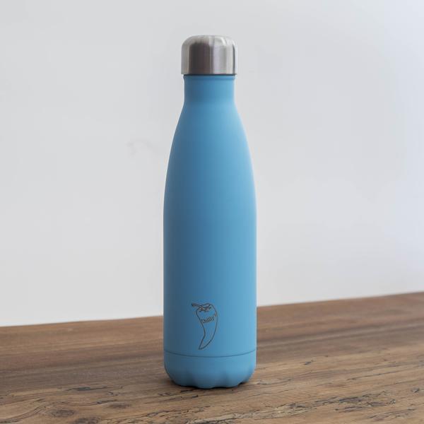 Chilly's geïsoleerde drinkfles 500 ml Pastel Blauw BPA-vrij waterfles thermosfles lekvrij RVS