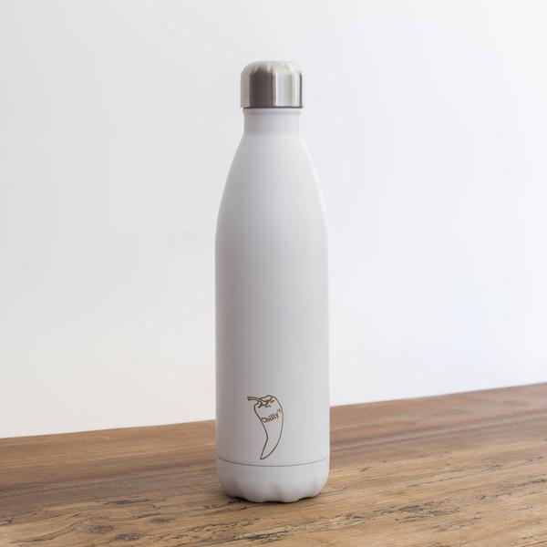 Chilly's drinkfles geïsoleerd 750 ml Wit BPA-vrij waterfles thermosfles lekvrij RVS