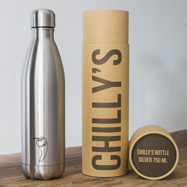 chilly's geïsoleerde drinkfles 750 ml RVS BPA-vrij waterfles thermosfles lekvrij