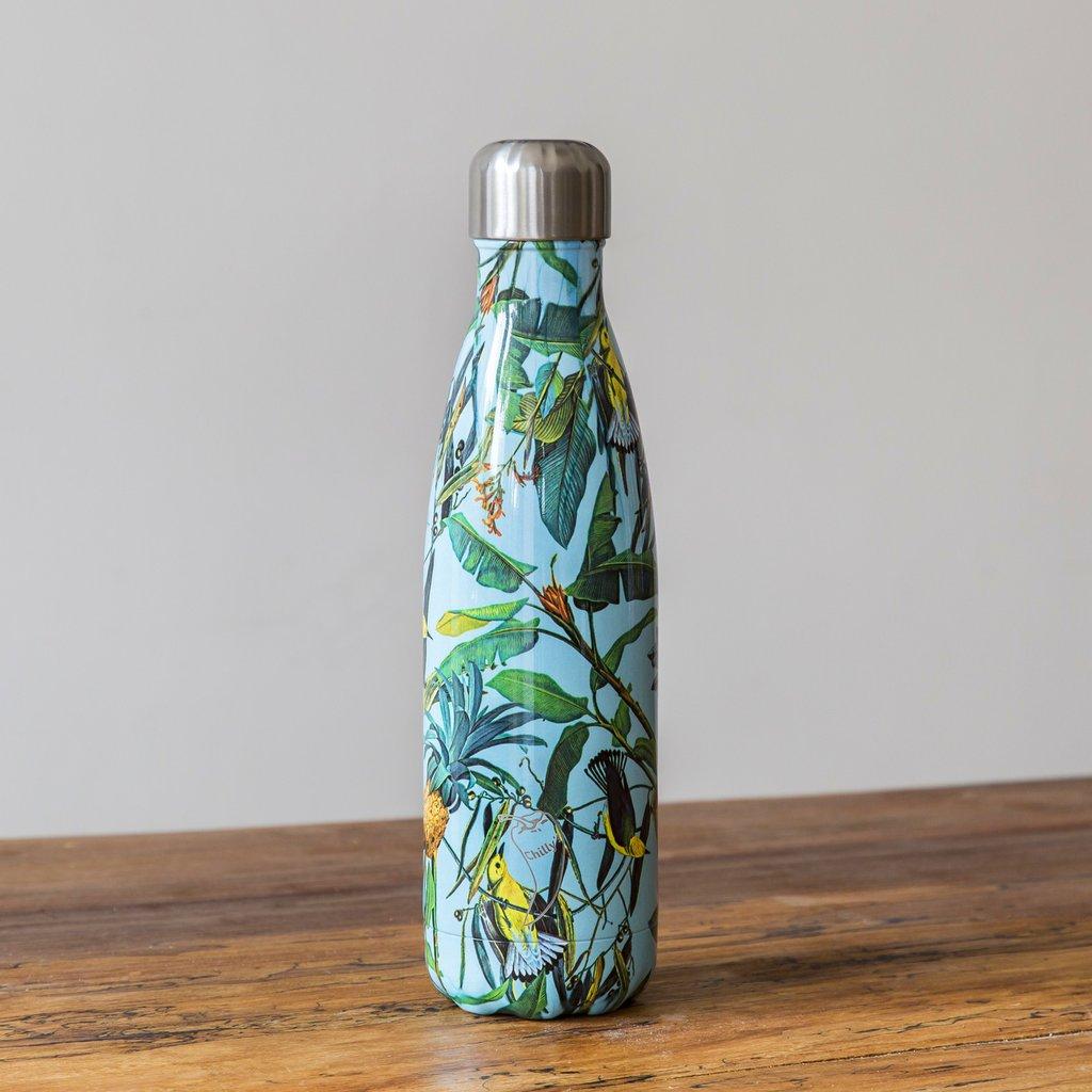 Chilly's Ananas Bottle geïsoleerde drinkfles 500 ml roestvrij staal duurzaam bpa vrij lekvrij leuke waterfles