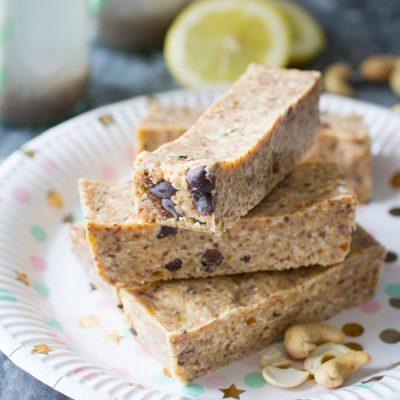 Chocolate Chip Proteïnerepen Paleo Lunch kookboek suikervrije, lactosevrije en glutenvrije lunch recepten meenemen werk school makkelijk simpel