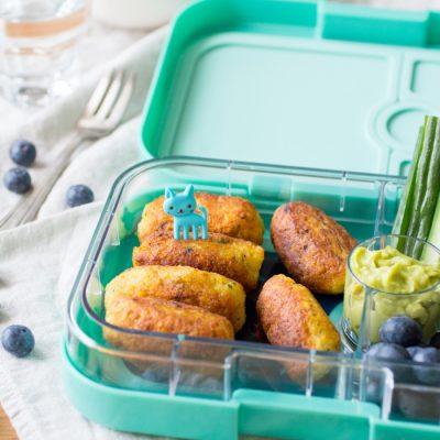Viskroketjes Paleo Lunch kookboek suikervrije, lactosevrije en glutenvrije lunch recepten meenemen werk school makkelijk simpel kinderen bentobox lunchtrommel