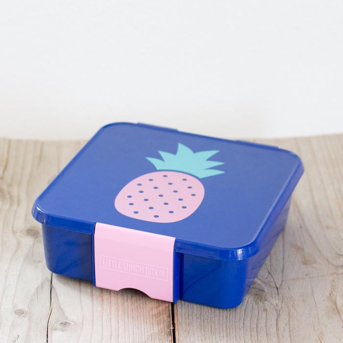 Little Lunch Box Ananas hippe Bento Five lunchtrommel met 5 vakken kopen kinderen op school Paleo eten