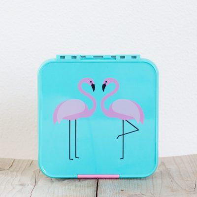 Little Lunch Box Flamingo Bento Three lunchtrommel kopen voor kinderen school 3 vakken