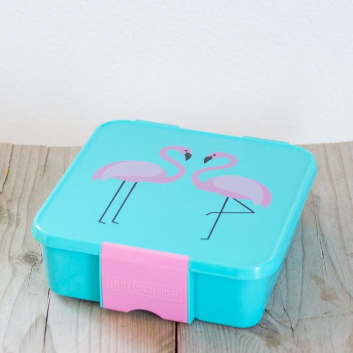 Little Lunch Box Flamingo bento lunchtrommel kopen voor kinderen 3 vakken EetPaleo