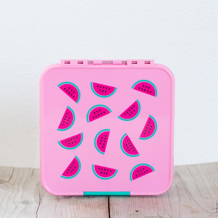 Little Lunch Box Watermeloen Bento Three lunchtrommel kopen 3 vakken kinderen school EetPaleo