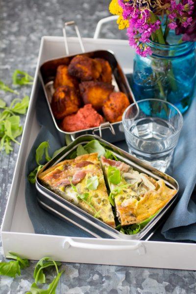 Omelet met Parmaham en Artisjok Paleo Lunch kookboek suikervrije, lactosevrije en glutenvrije lunch recepten meenemen werk school makkelijk simpel