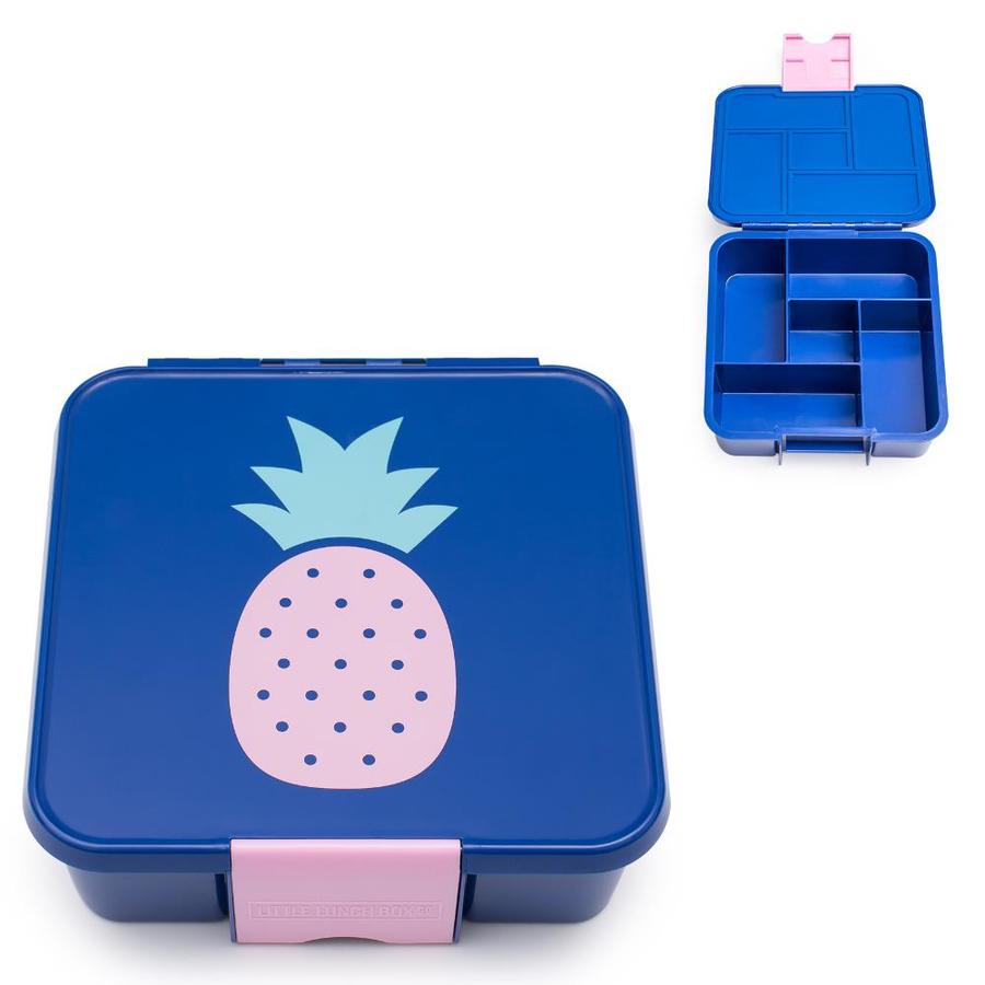 Little Lunch Box Ananas vrolijke Bento Five lunchtrommel met meerdere vakken kopen kind op school lekvrij
