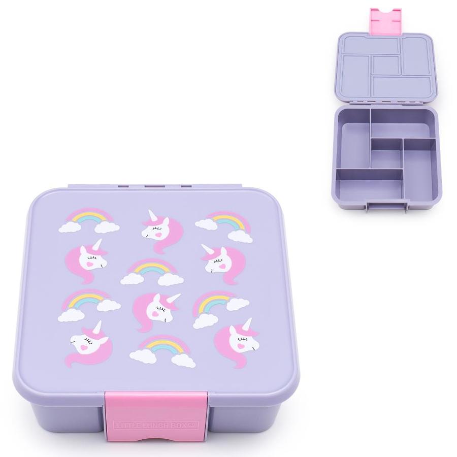 Little Lunch Box Eenhoorn bento gezonde lunchtrommel met 5 vakken voor kinderen kopen
