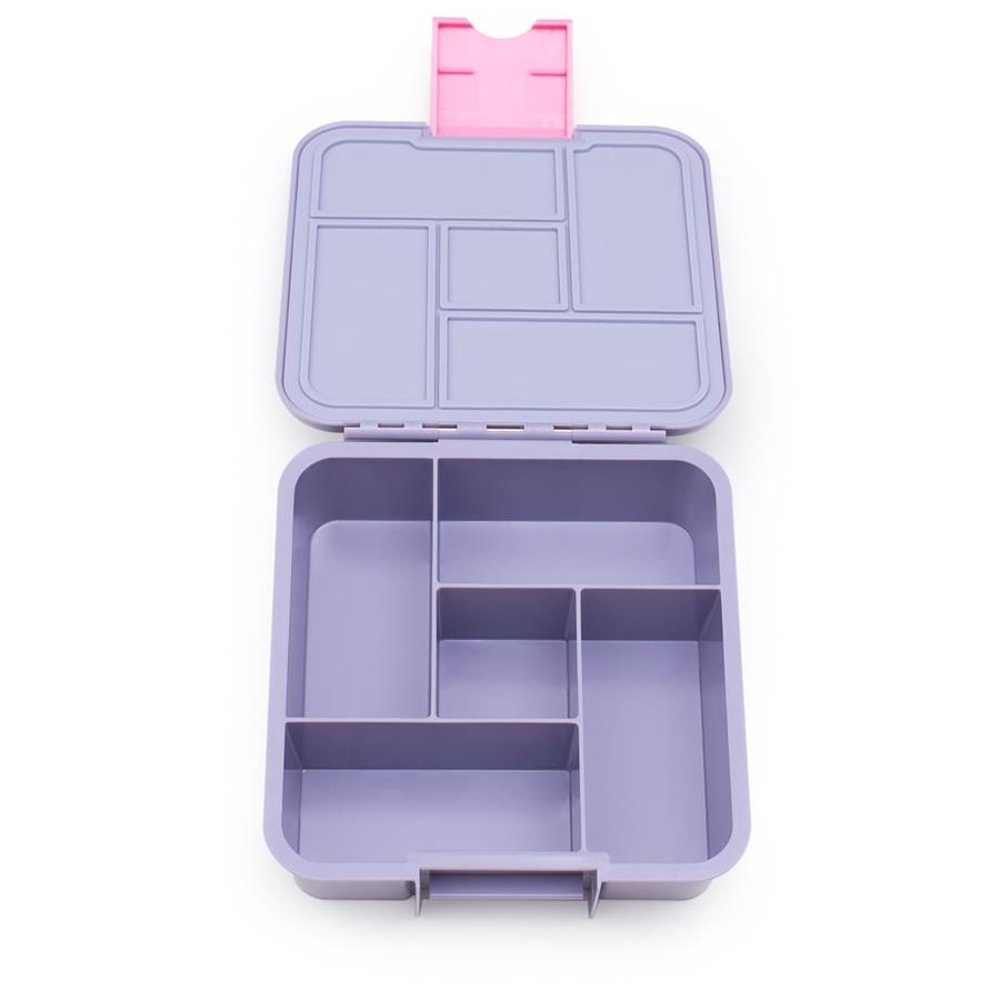 Little Lunch Box Eenhoorn bento gezonde lunchtrommel met vakken voor kinderen lekvrij BPA vrij