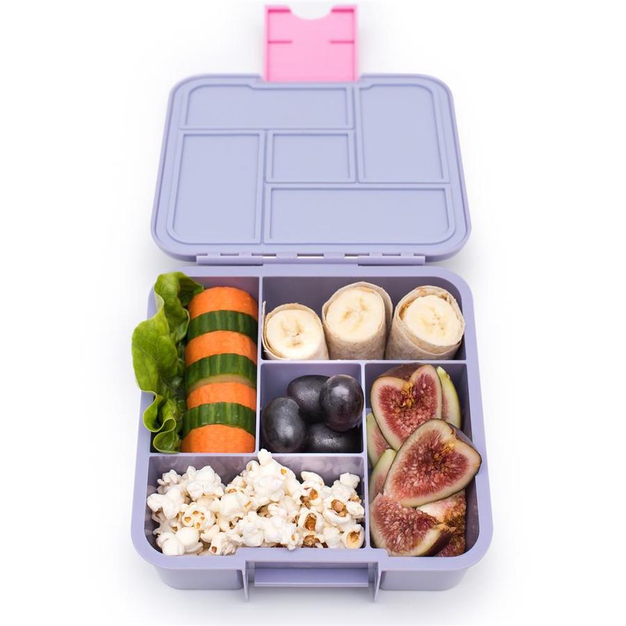 Little Lunch Box Eenhoorn bento gezonde lunchtrommel met vakken kindvriendelijk lekvrij BPA vrij siliconen
