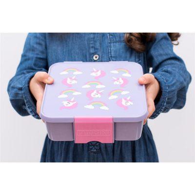 Little Lunch Box Eenhoorn bento gezonde lunchtrommel met vakken kindvriendelijk lekvrij BPA vrij veilig