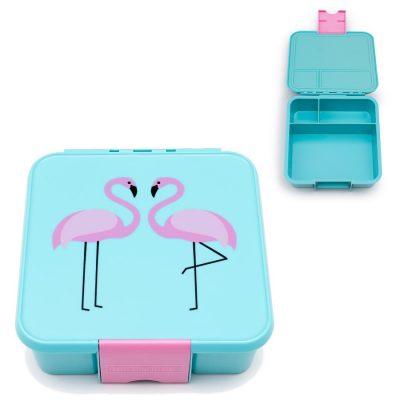 Little Lunch Box Flamingo leuke Bento Three lunchtrommel kopen voor meisjes school 3 vakken lekvrij kindvriendelijk veilig gezond