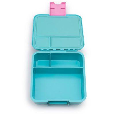 Little Lunch Box Flamingo Bento Three lunchtrommel kopen voor kinderen school 3 vakken lekvrij kindvriendelijk makkelijk open en dicht