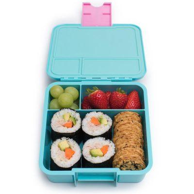Little Lunch Box Flamingo Bento Three lunchtrommel kopen voor kinderen school meerdere vakken lekvrij kindvriendelijk makkelijk te openen