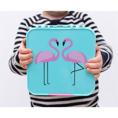 Little Lunch Box Flamingo Bento Three lunchtrommel kopen voor kinderen school verschillende vakken lekdicht kindvriendelijk