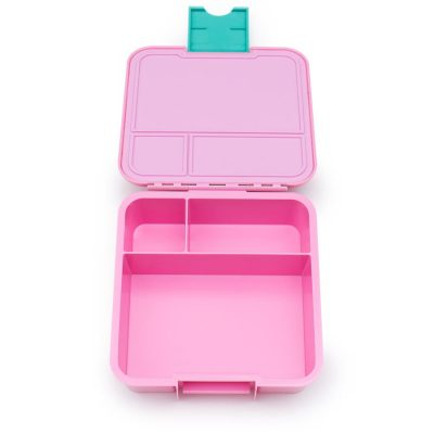 Little Lunch Box Watermeloen roze Bento Three lunchtrommel kopen verschillende vakken meisjes school lekdicht