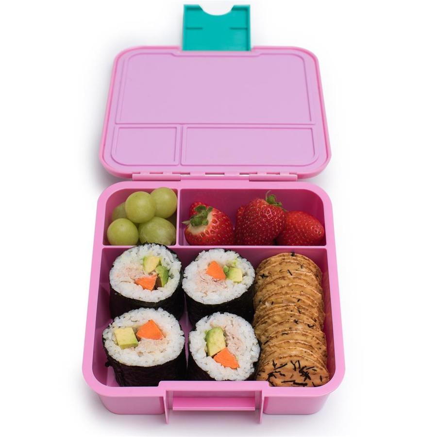 Little Lunch Box Watermeloen Bento Three lunchtrommel kopen verschillende vakken kinderen school lekdicht Paleo