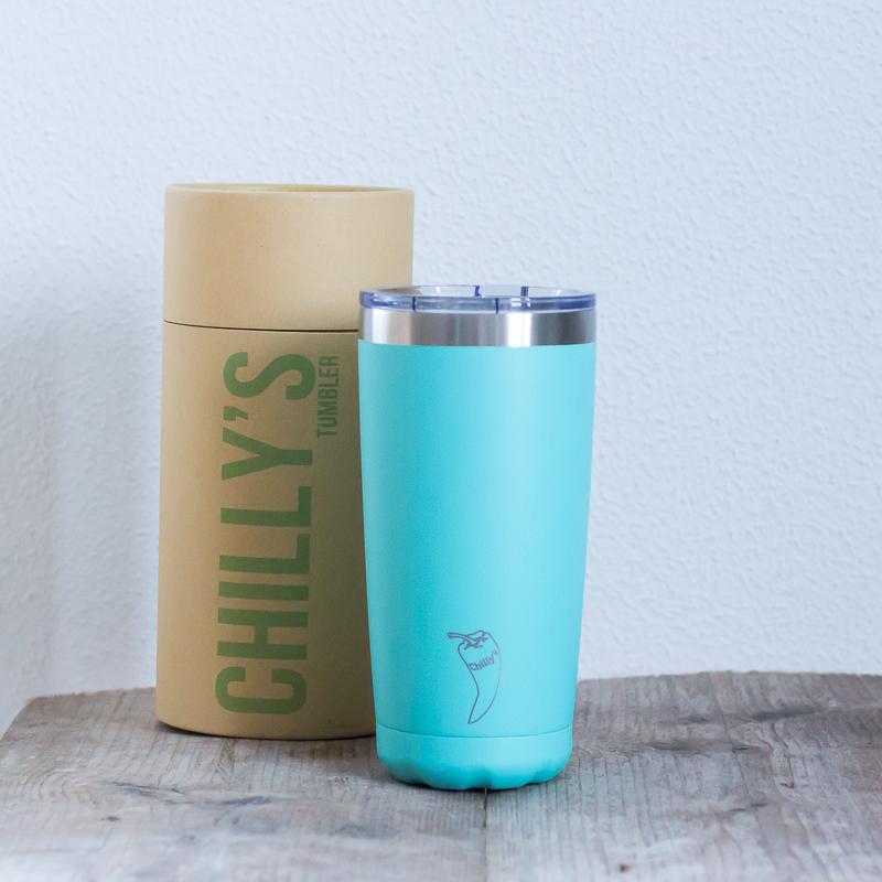Chilly's geïsoleerde koffiebeker auto onderweg koffie tumbler RVS 500 ml lekdicht BPA vrij meenemen werk warm houden