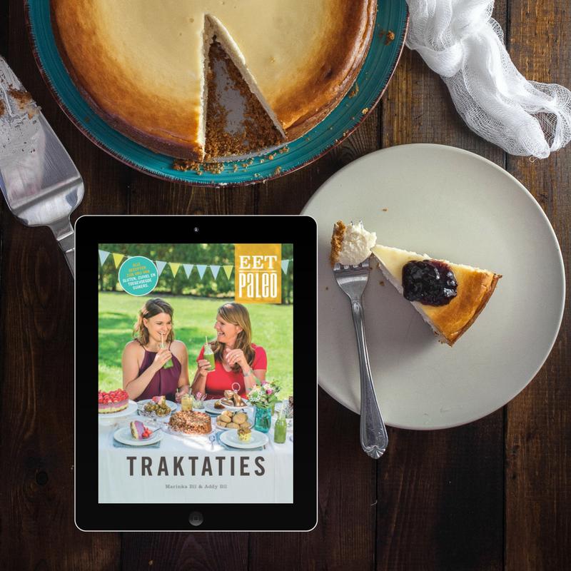 Paleo Traktaties kookboek e-book suikervrije taarten recepten glutenvrij lactosevrij Marinka Bil EetPaleo