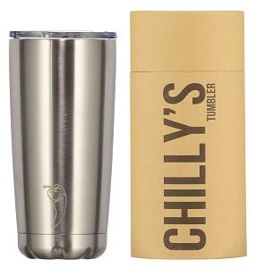 Chilly's lekvrije koffiebeker tumbler RVS 500 ml auto onderweg koffie staal BPA vrij