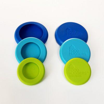 Kleine Food Huggers set van 6 groen blauw langer bewaren komkommer citroen limoen keuken koelkast