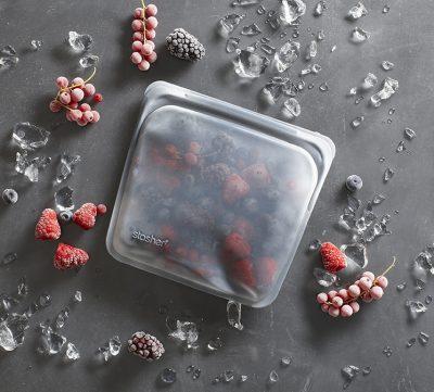 Stasher Bag Clear Doorzichtig 443 ml kopen milieuvriendelijk duurzaam ziplock zakje zipsluiting herbruikbaar lunchzakje