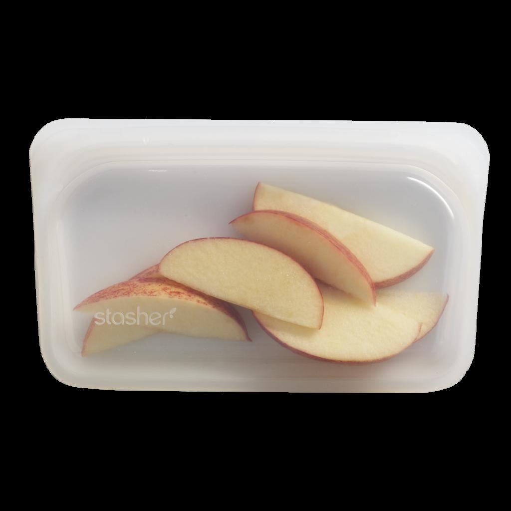 Stasher Snack Bag Clear Doorzichtig 293 ml kopen milieuvriendelijk duurzaam ziplock zakje zipsluiting gripzak