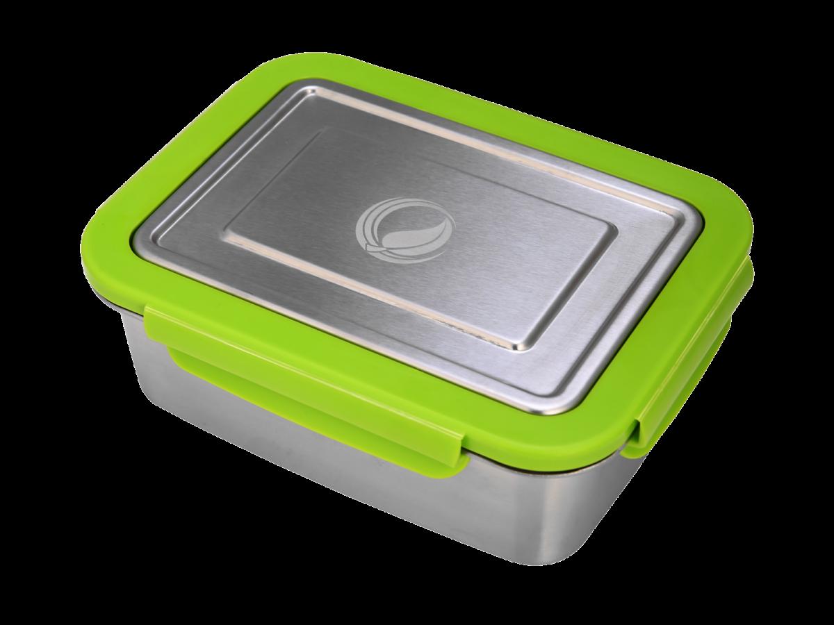ECOtanka lunchbox groen RVS lunchtrommel stevig groot lunch vakjes