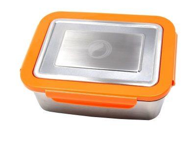 ECOtanka grote lunchbox oranje RVS lunchtrommel stevig groot lunch vakjes lekvrij broodtrommel kopen