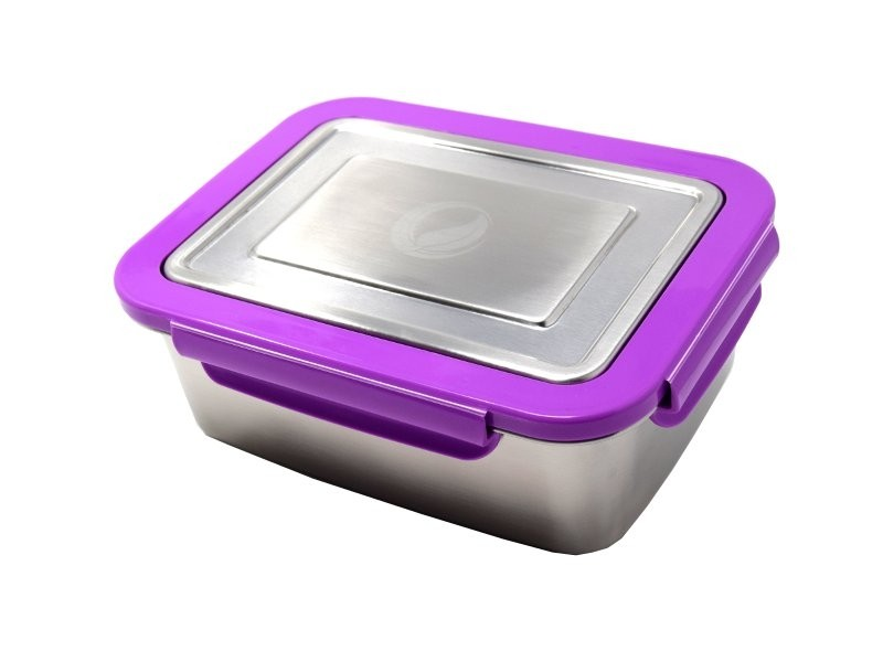 ECOtanka lunchbox paars grote RVS lunchtrommel stevig