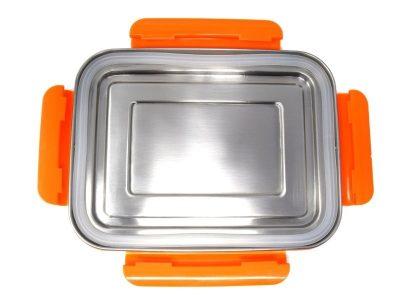 ECOtanka grote lunchbox oranje RVS lunchtrommel stevig groot lunch vakjes lekvrij