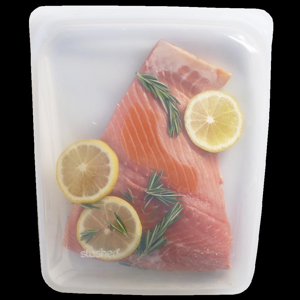 Stasher Bag groot Clear Doorzichtig 1900 ml kopen ziplock zakje zipsluiting gripzak vlees groente